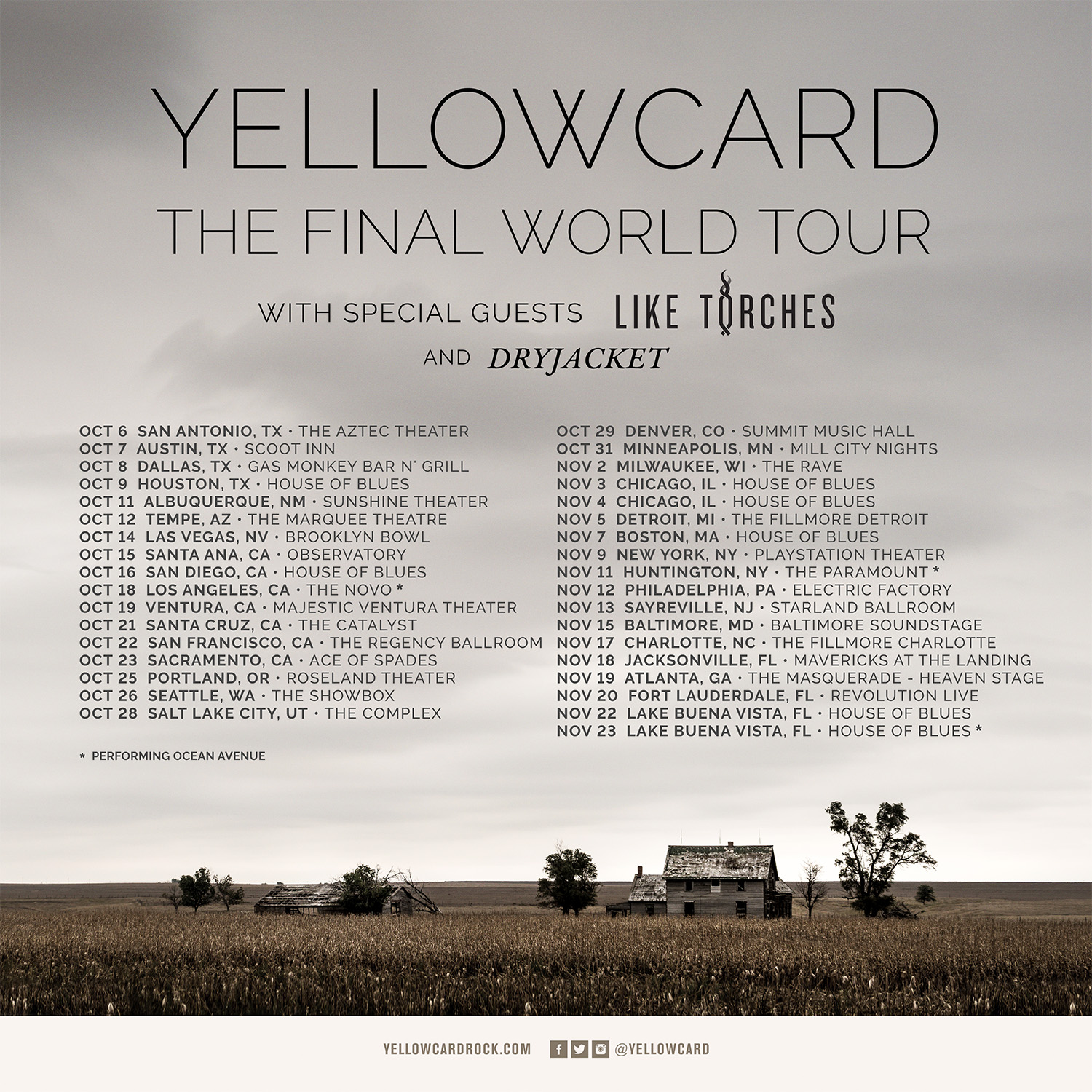 Yellowcard World Tour (US)